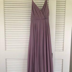 Lulu's lilac maxi dress